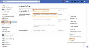 How to change your Facebook language settings to Spanish