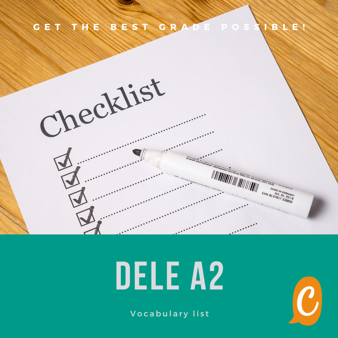 Read more about the article DELE A2 | Vocabulary list