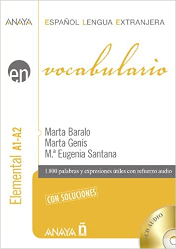 A vocabulary reference book for Spanish beginners: En vocabulario